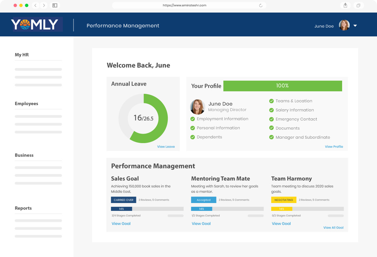 Performance-Management-Dashboard